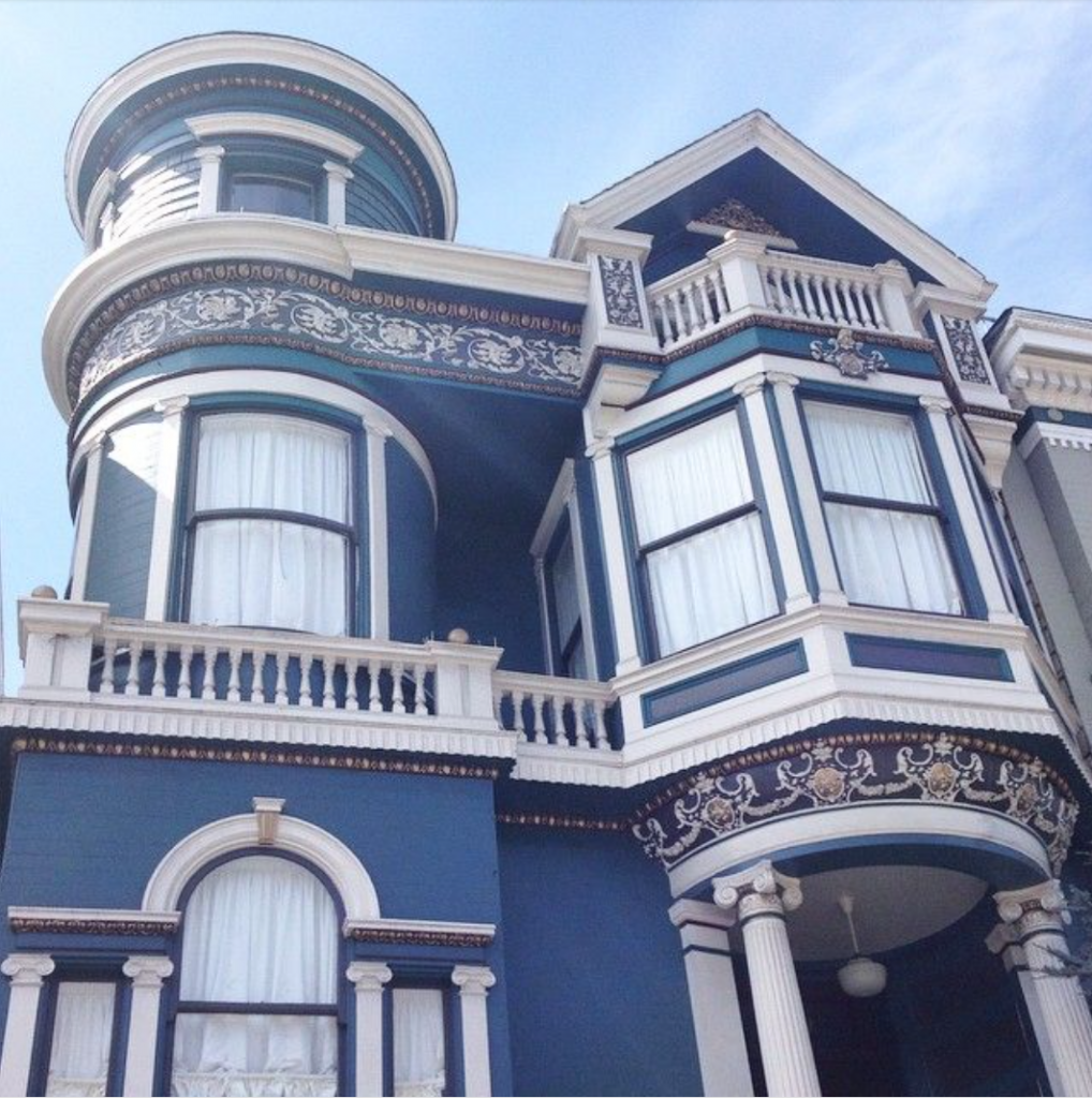 San Francisco blue and white house