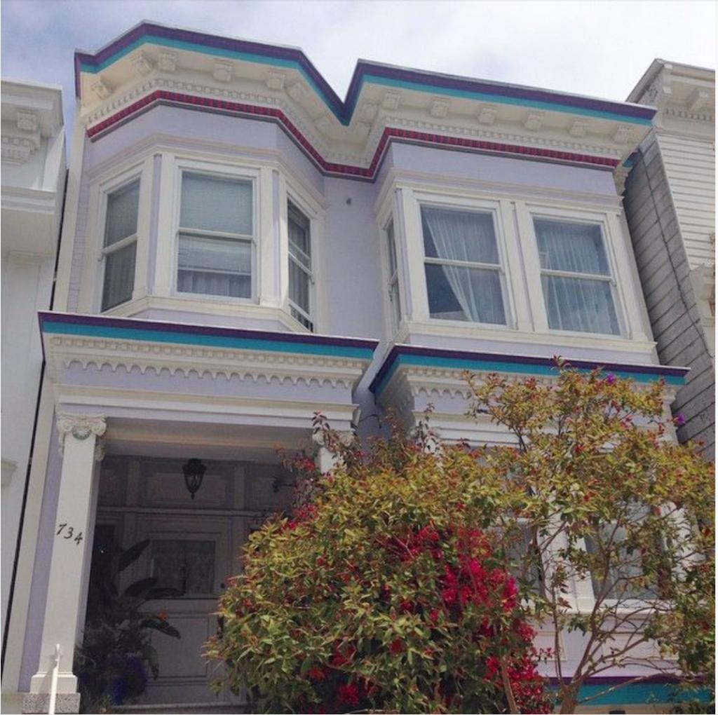 San Francisco pale mauve house