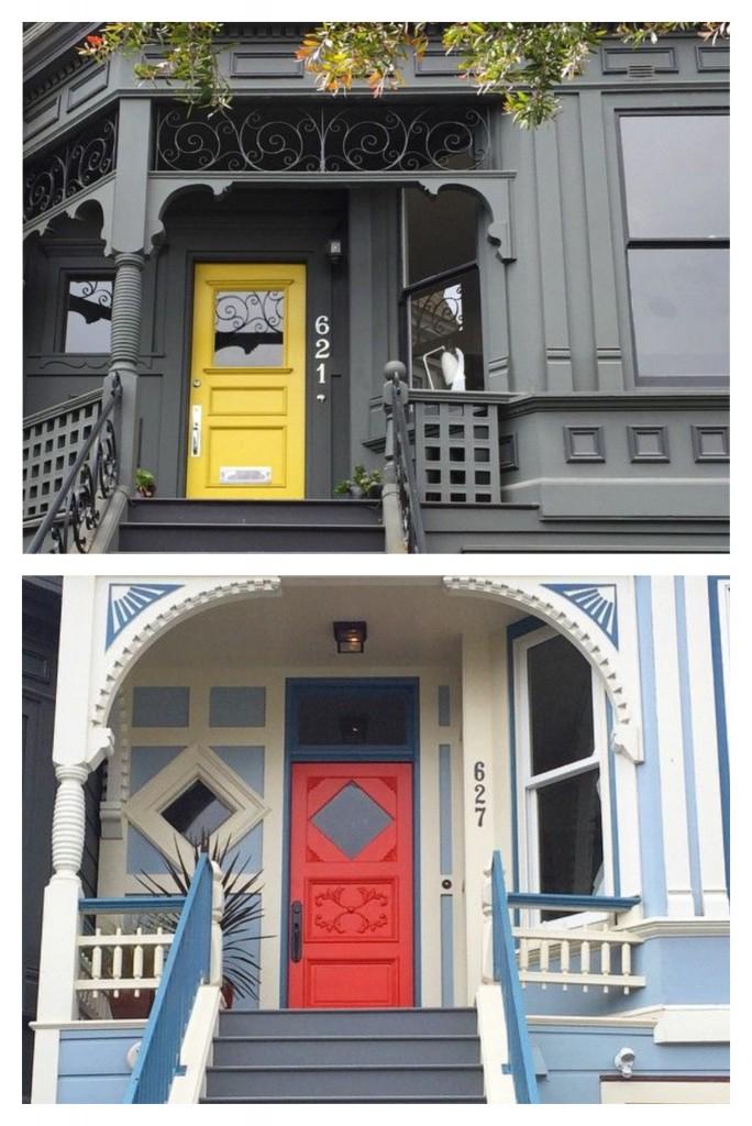 San Francisco popping front doors