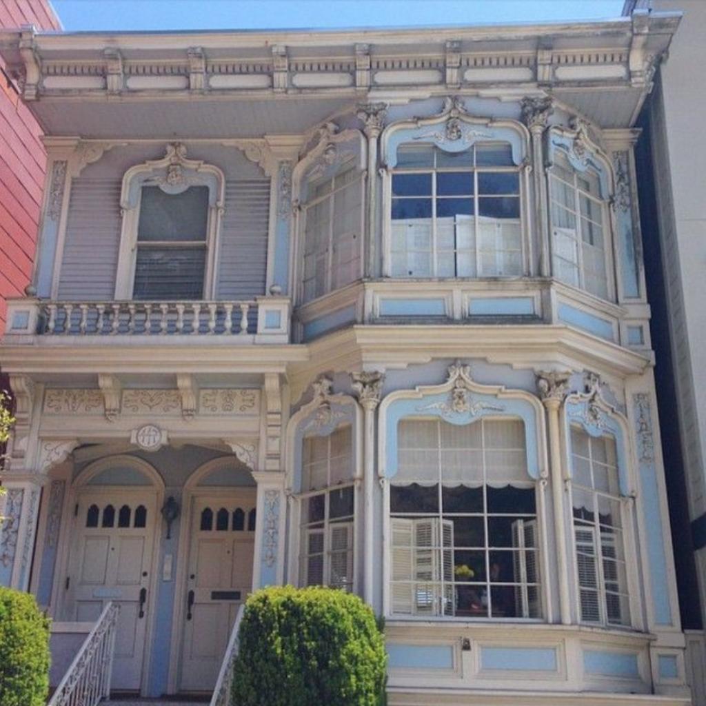 San francisco blue and grey house