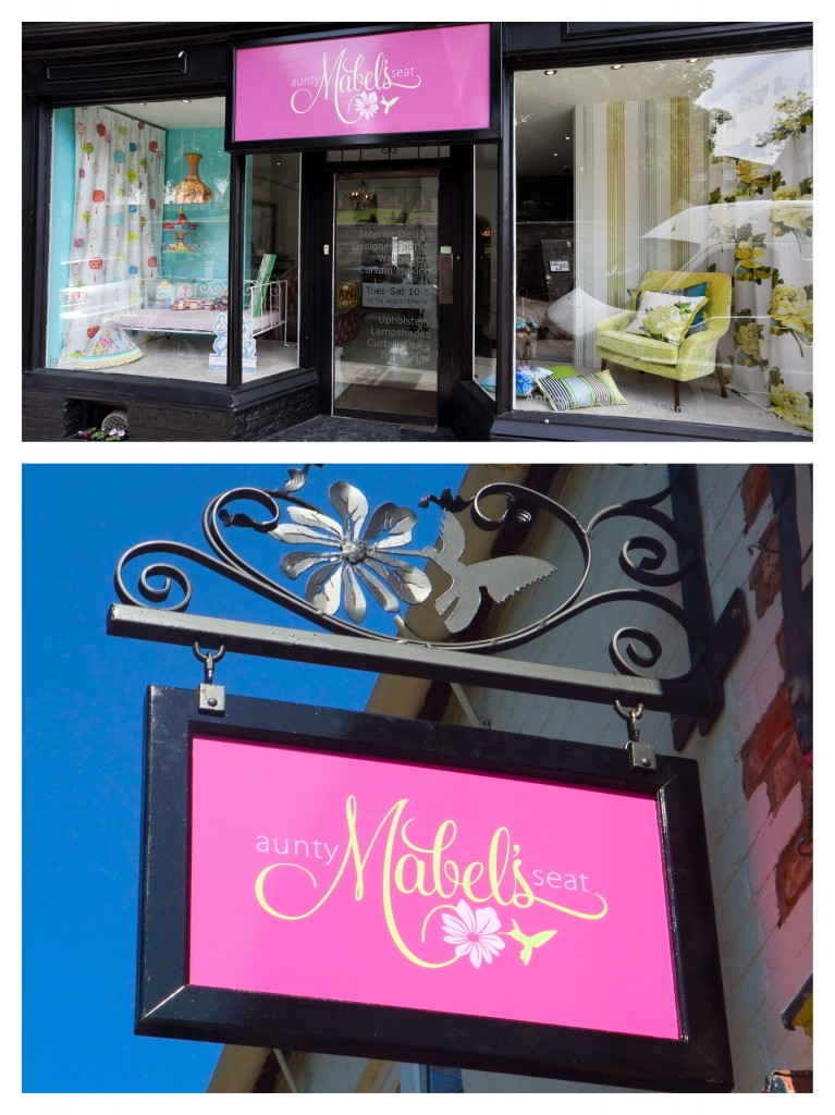 1. the shop front 2. my lovely shop sign with its bespoke hummingbird and hibiscus iron bracket