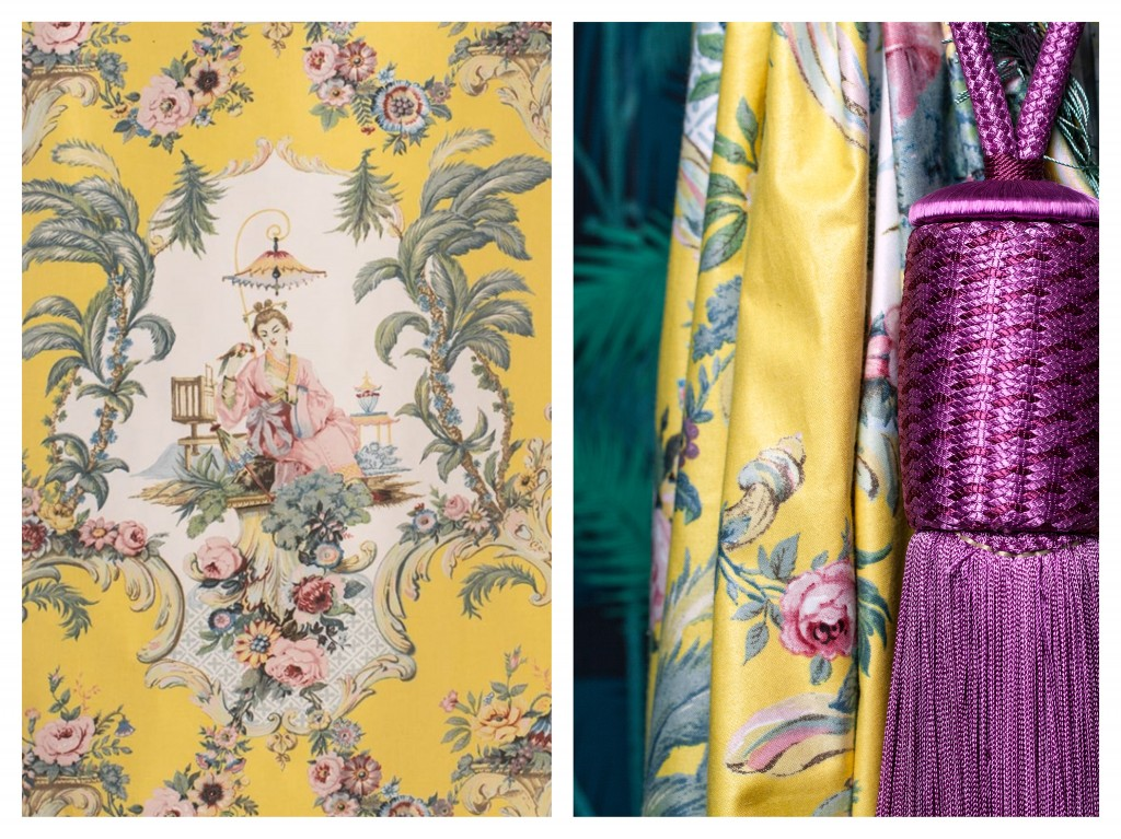 Curtain in Jean Monro's Geisha fabric