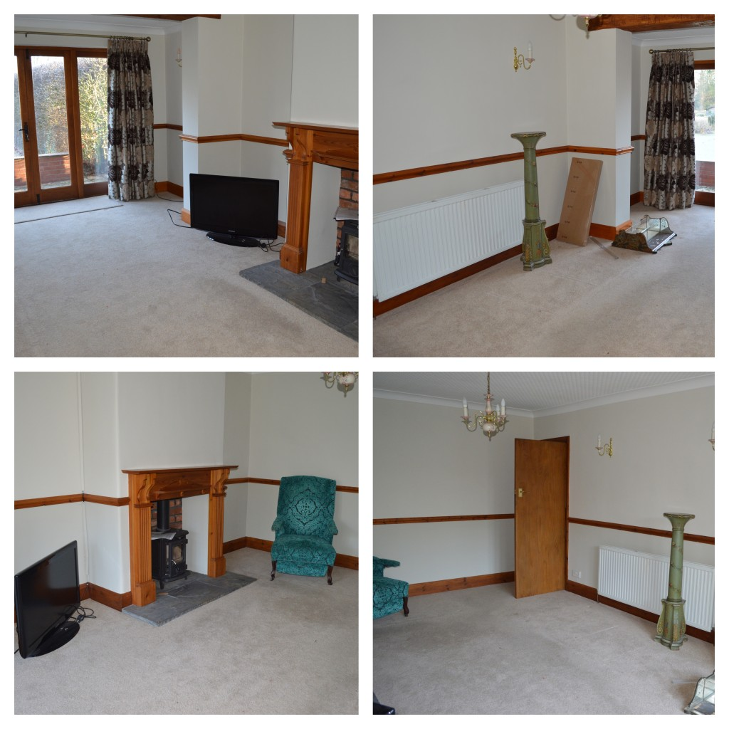 The empty living room, before we moved the rest of our stuff in
