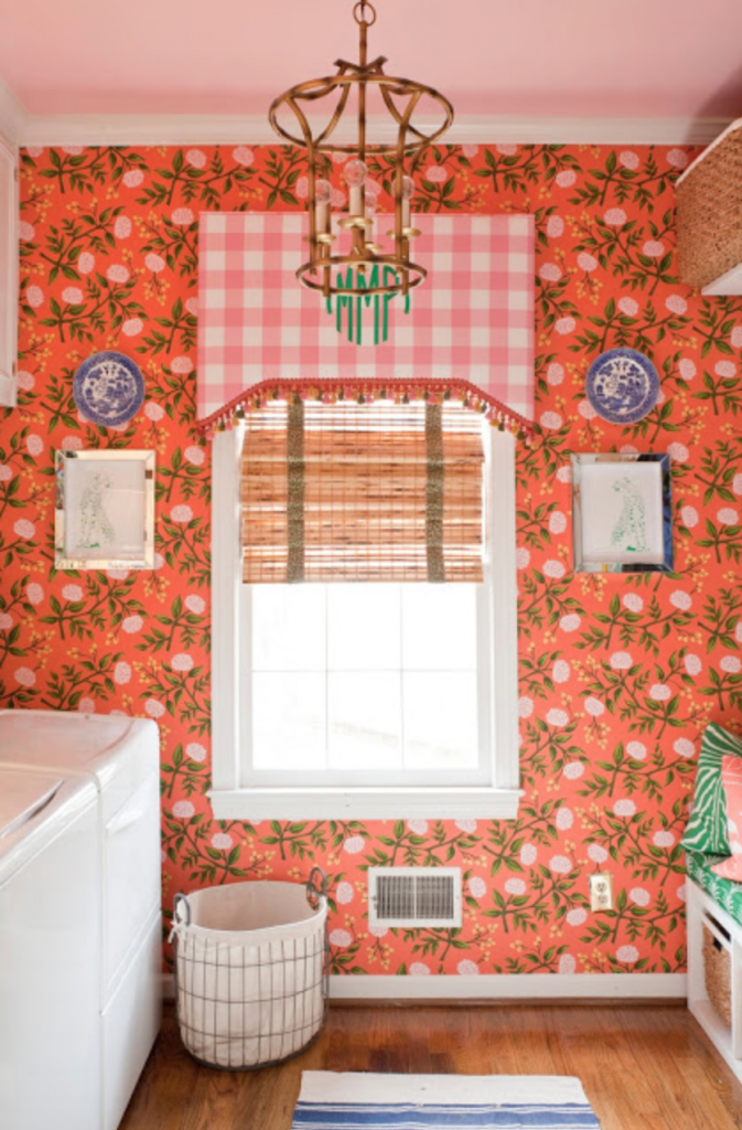 glam pad coral bathroom