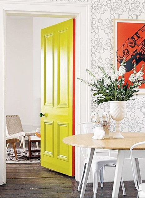 Yellow painted door
