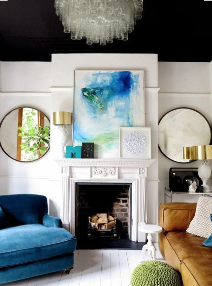 Contrasting Your Living Rooms Painted Walls