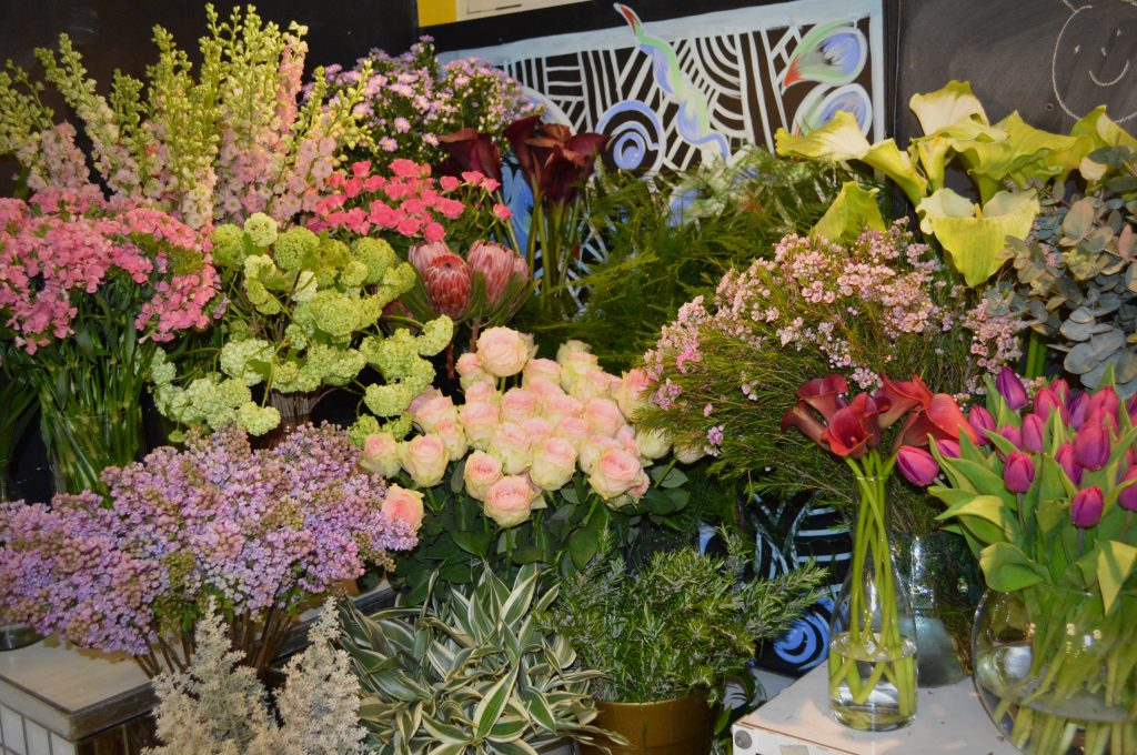 large selection of flowers