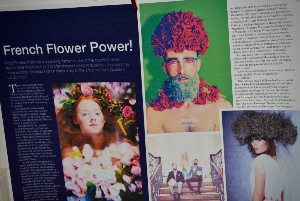 Frog Flowers press article