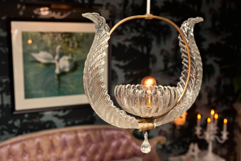 swan chandelier
