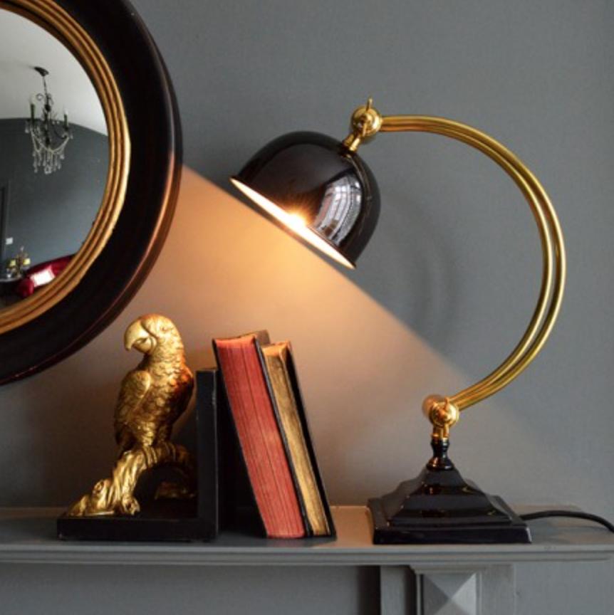 Brass desk lamp £115.00