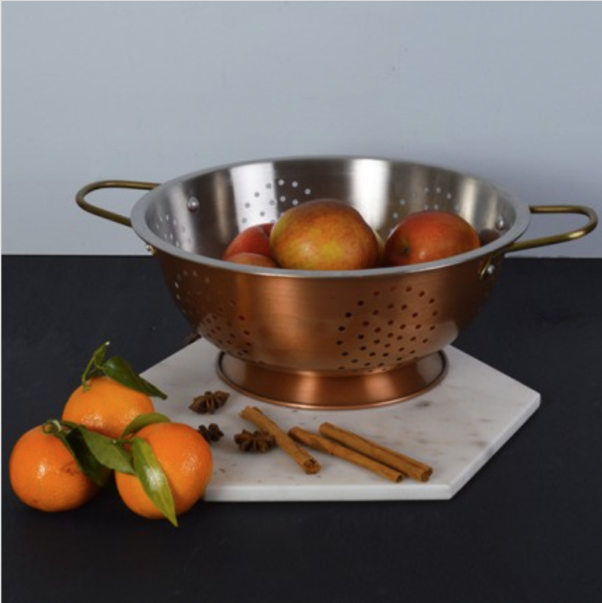 Copper colander £14.99