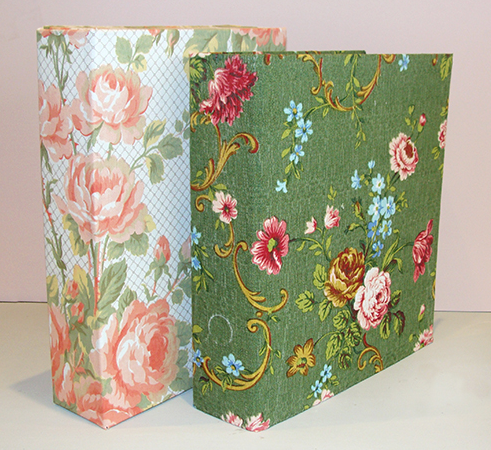 Fabric covered files from Mia Fleur