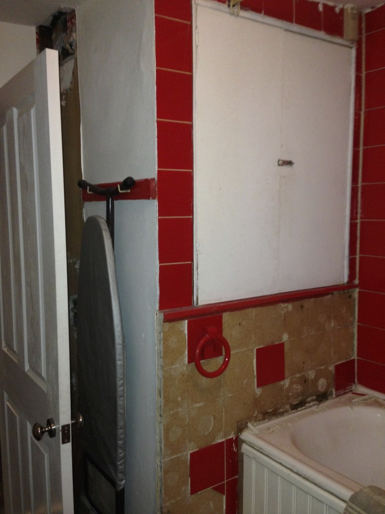 before bathroom tiles