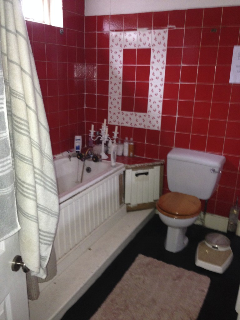 Another fetching image of the 'before' bathroom