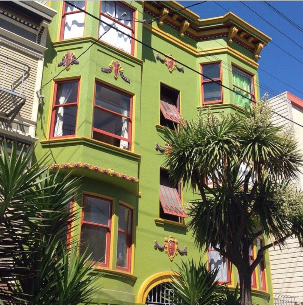 San Francisco lime green house