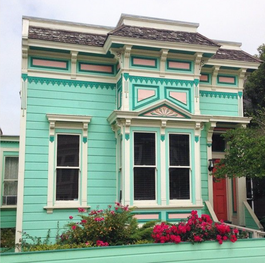 San Francisco mint green house