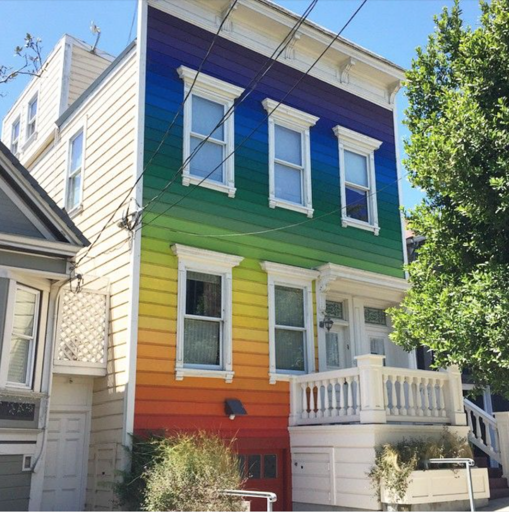 San Francisco rainbow house