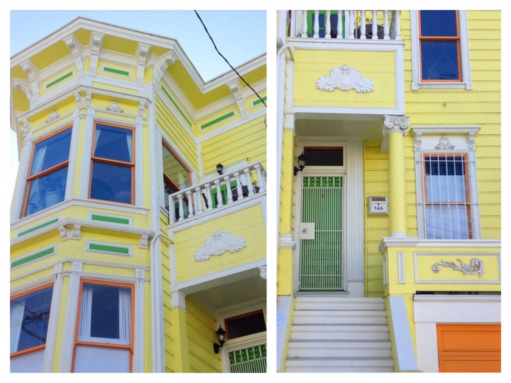 San Francisco yellow house