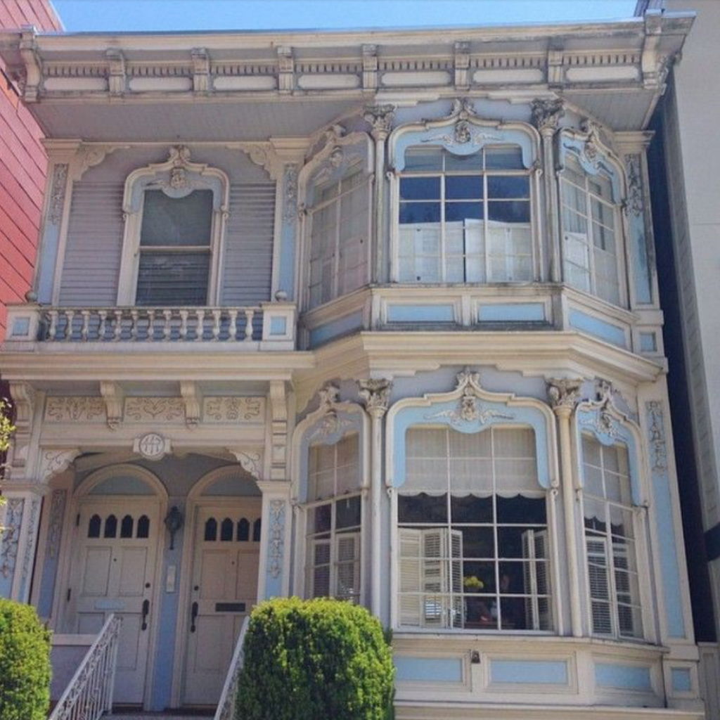 San francisco blue and grey house