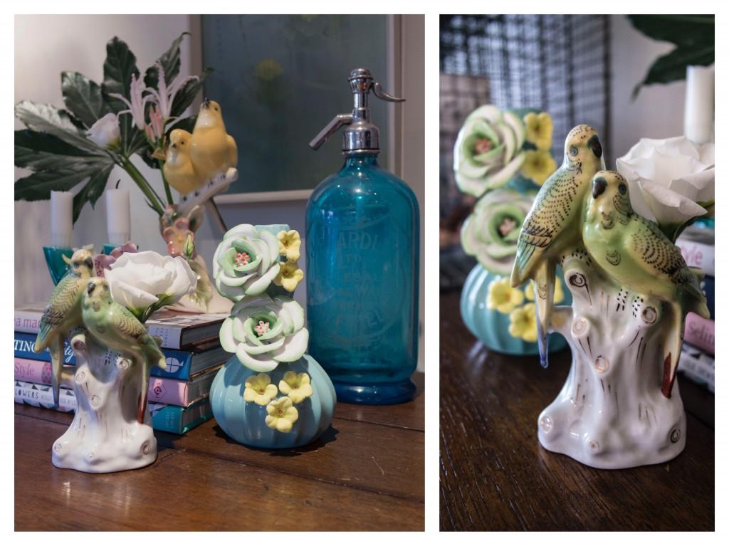 Vintage bird vases