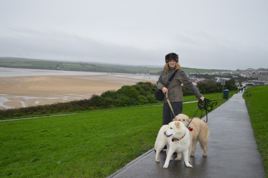 We went to Cornwall for New Year, here's me and the girls in Padstow. This was Flossie's first day on a beach EVER!