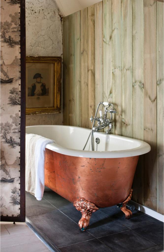 copper leaf bath