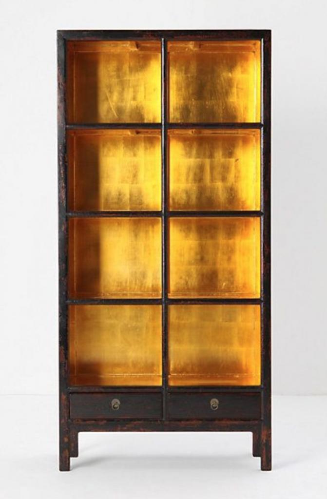 gold leaf bookcase