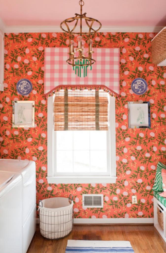 glam pad coral bathroom