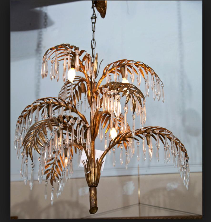 plam chandelier 2