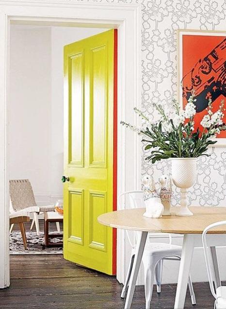Yellow painted door
