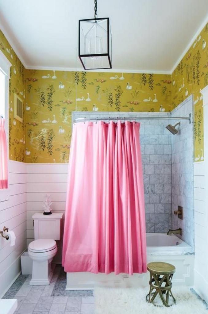 Nina Campbell yellow Swan Lake wallpaper