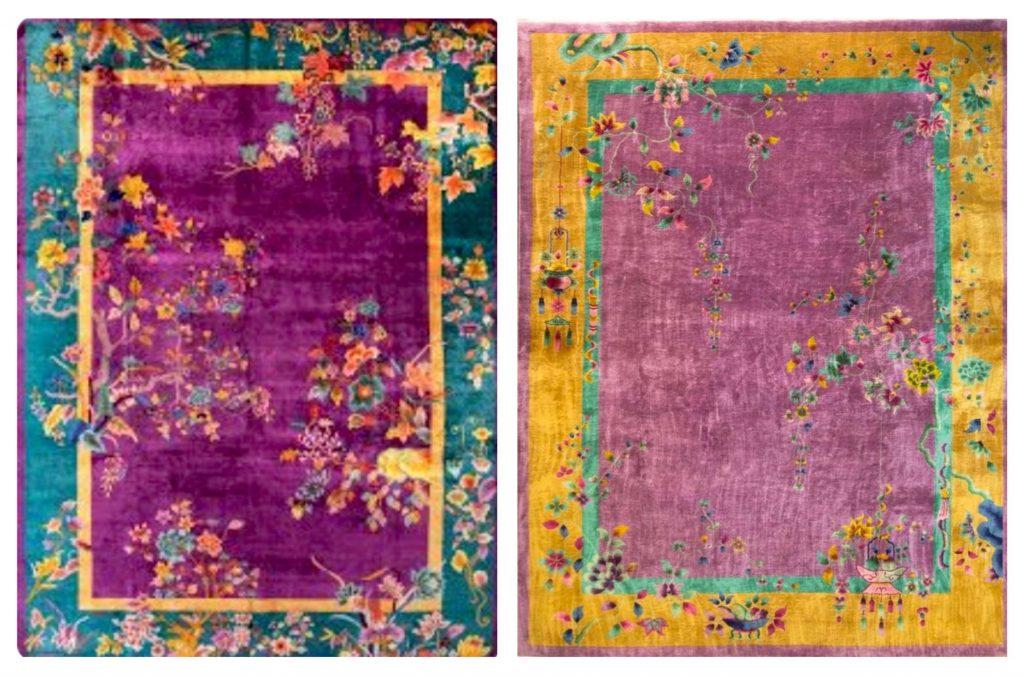 Nichols Art Deco antique rugs
