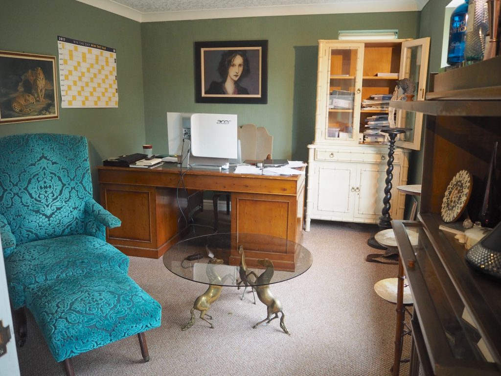 Home office study before renovating